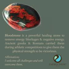 bloodstone is a powerful healing stone to remove energy blockages