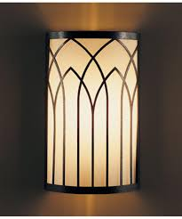 Art Deco Wall Sconces Hubbardton Forge 205651 Gothic Arches 7 Inch Wide Wall Sconce