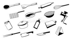 outil d ustensile de cuisine illustration de vecteur illustration