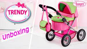 bayer design puppenwagen trendy dolls pram puppenwagen unboxing bayer design