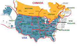 map of southeast canada map of northern united states and canada major tourist