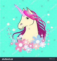 cartoon magical unicorn vector illustration unicorn stock vector