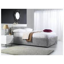 Suede Bed Frame Buy Hepburn King Faux Suede Ottoman Bed Grey From Our King Size