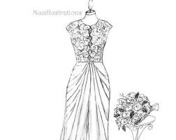 wedding dress drawing 1st wedding anniversary wedding dress