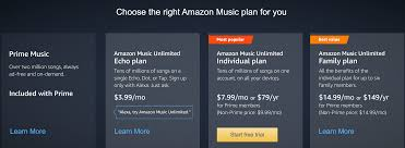 amazon music unlimited 30 day free trial hello subscription