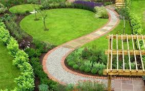 25 yard landscaping ideas curvy garden path designs to feng shui