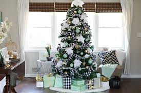 furniture fashionable green christmas tree decorating idea with