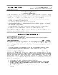 Test Manager Sample Resume by Download Rf Drive Test Engineer Sample Resume