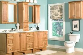 Oak Bathroom Cabinet Oak Cabinets Bathroom Chaseblackwell Co