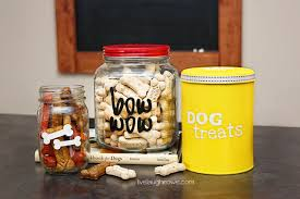 diy dog treat canisters