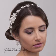 bohemian hair accessories clarissa bridal hair vine bohemian wedding headpiece