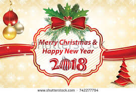 new year wish card merry christmas happy new year 2018 stock illustration 742277794