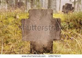 cemetery stones christian cemetery stones autumn season stock photo 128279243