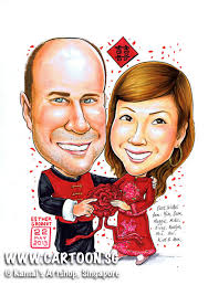 wedding gift singapore sg singapore caricature artists for gifts