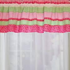 Pink Ruffle Curtains Panels by Shop My World Anna U0027s Ruffle 70 In Pink Valance At Lowes Com