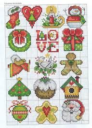 os melhores gráficos de natal em ponto free cross stitch