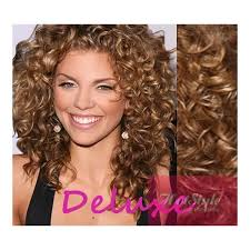 light brown curly hair 20 50cm deluxe curly clip in human remy hair light brown