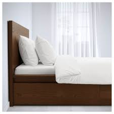 malm bed frame high w 2 storage boxes white lur 246 y malm high bed frame 2 storage boxes queen luröy ikea