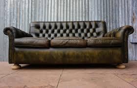 canapé chesterfield vintage oude verweerde geleefde vintage 3 zits chesterfield bank