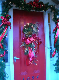 Red Ribbon Door Decorating Ideas Furniture U0026 Accessories A Whole Bunch Of Christmas Porch