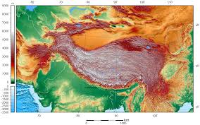 Tibetan Plateau Map File Tibet And Surrounding Areas Topographic Map 2 Png Wikimedia