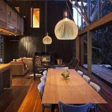 luxury modern dining room open space with large windows and