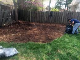 added some mulch and grass seeds in middlesex nj