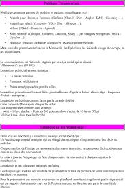 siège social nocibé dossier professionnel de vente pdf
