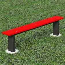 Athletic Benches Recycled Plastic U0026 Steel Pilot Rock