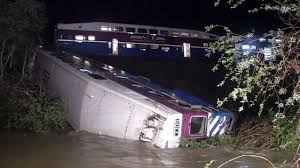 sunol train of lights passengers rescued out of creek after ace train derailed in alameda