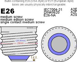 standard light bulb base e26 are e26 and e27 light bulb bases interchangeable eosled