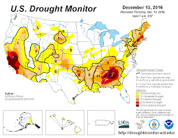 Southeast Us Map U S Drought Monitor Update For December 13 2016 National