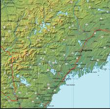 map of maine cities maine map interstate 95