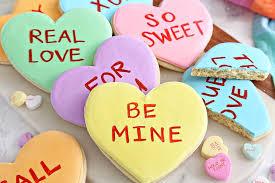 conversation heart conversation heart sugar cookies