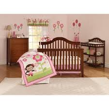 Ballerina Crib Bedding Child Of Mine Ballerina Garden 3pc Crib Bedding Set Walmart