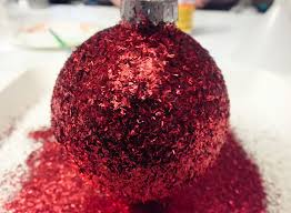 glitter tree ornaments two crafting