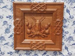 wood carving wall for sale windmill wood wood carving wooden tulips celtic knot