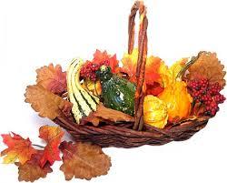 autumn basket centerpiece for thanksgiving dot