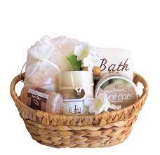 bath gift baskets spa relaxation himalayan pink salt spa gift basket peach bath