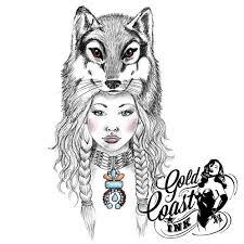 temporary with wolf tribal boho wolf headdress