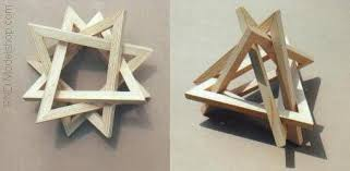 geometric wood sculpture 4 triangles wood sculpture by rndmodels on deviantart
