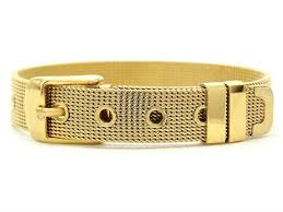 buckle bracelet gold images Yellow gold belt bracelet goldwinter jpg