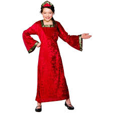 Halloween Costumes Girls Age 3 Child Tudor Princess Red Fancy Dress Costume Girls Book Week Age 3