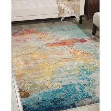 Coral Colored Area Rugs by Nourison Celestial Sealife Rug 5 U00273 X 7 U00273 Overstock Com