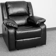 Black Leather Recliner Harmony Series Black Leather Recliner Bt 70597 1 Gg