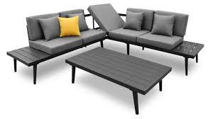 canapé d angle de jardin salon de jardin table basse alu piaxa mobilier moss