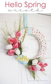 diy spring wreath lil u0027 luna