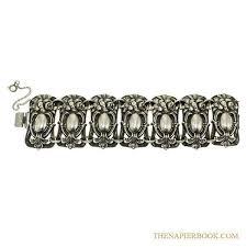 silver plated bracelet chain images Napier repouss silver plated bracelet the napier book online jpg