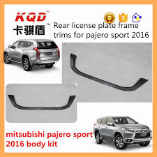 china new black abs plastic car license plate frame pajero sport