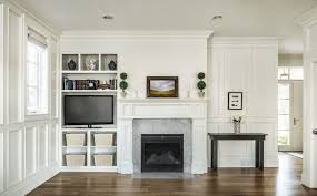 Fireplace Mantels And Bookcases Living Room Contemporary With - Family room bookcases